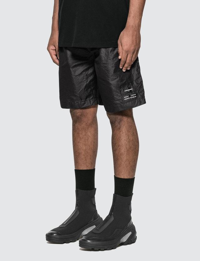Marcelo Burlon Logo Zipped Shorts =e28 Men