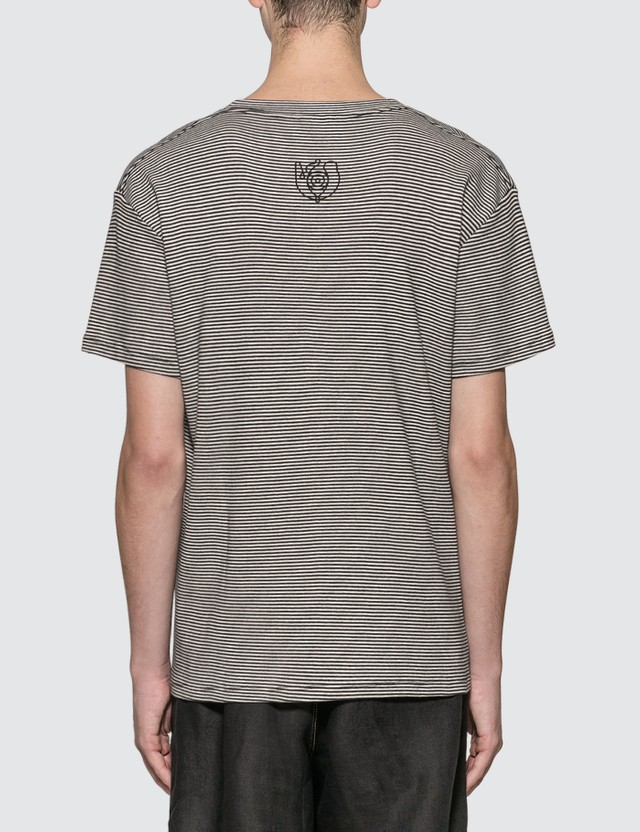 Loewe ELN Stripe Cropped T-Shirt Black/white Men