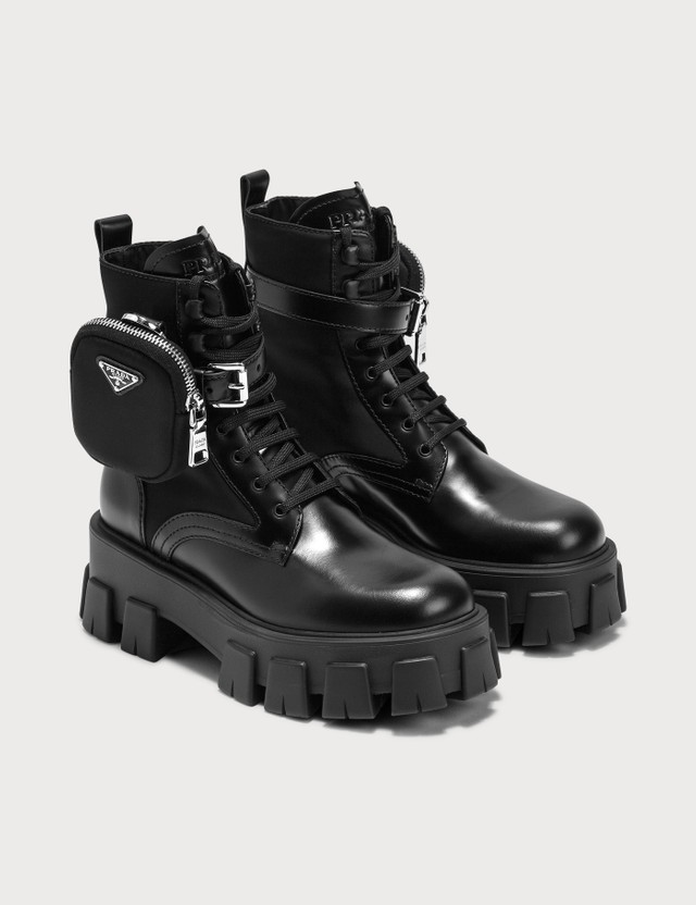 Prada Chunky Boots With Pouch