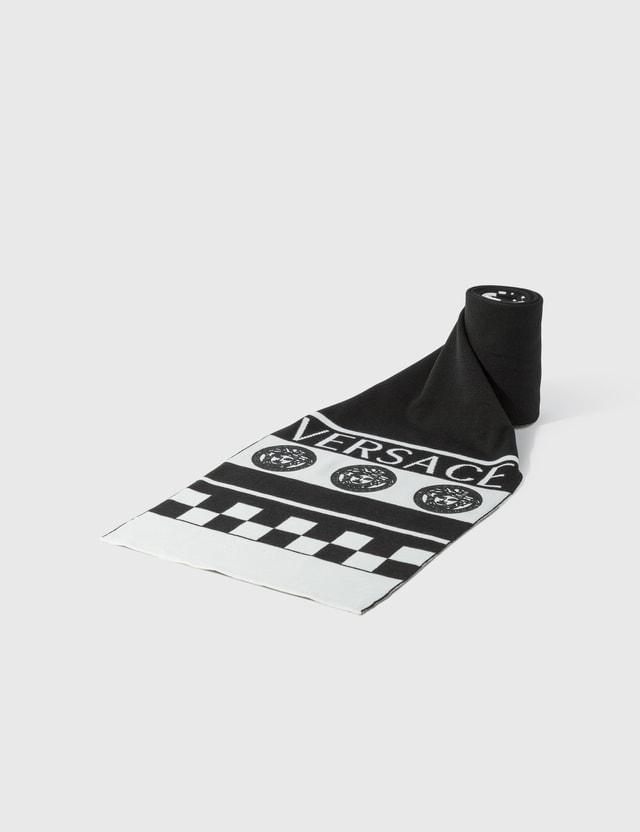Versace 메두사 로고 스카프 Nero - Bianco Men