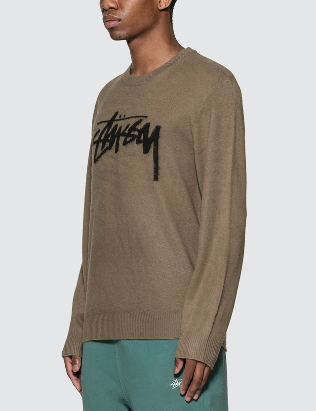 Stussy Brushed Out Logo Sweater