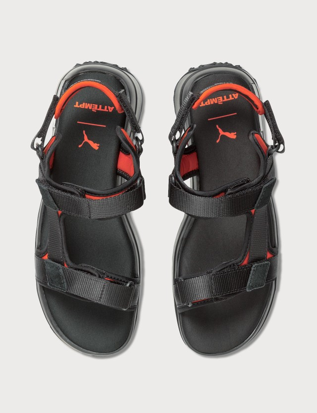 Puma Future Rider Sandal Attempt Puma Black-cherry Tomato-vaporous Gray Women