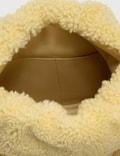Bottega Veneta Curly Shearling Clutch Teddy-gold Women