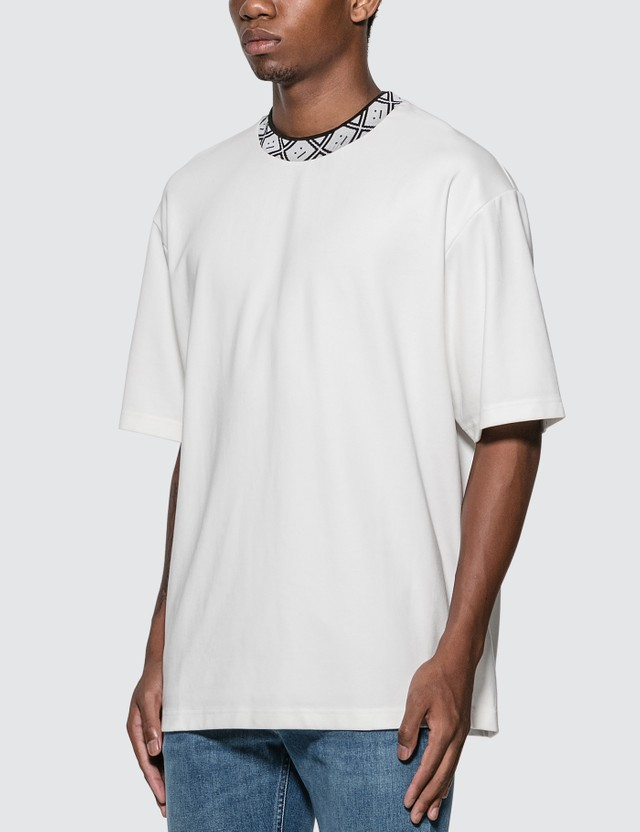 Acne Studios Face Motif Mock Neck T-Shirt