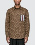 Burberry Monogram Printed Long Sleeve Shirt Picture