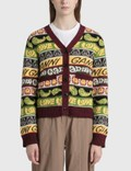 Ganni Recycled Wool Smiley Cardigan Picture