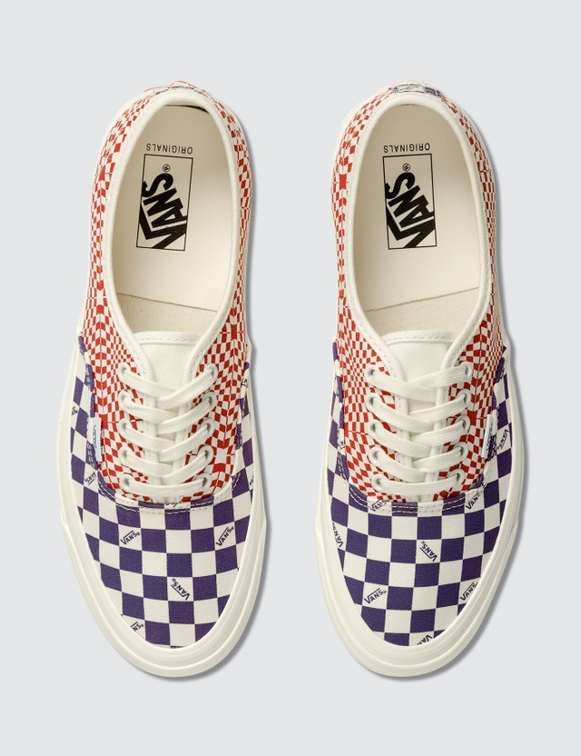 Vans OG Authentic LX (canvas) Logo Check/violet Indigo/racing Red Men