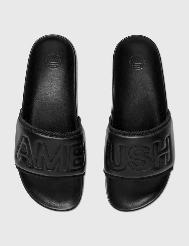 Ambush Padded Leather Slider Black Men