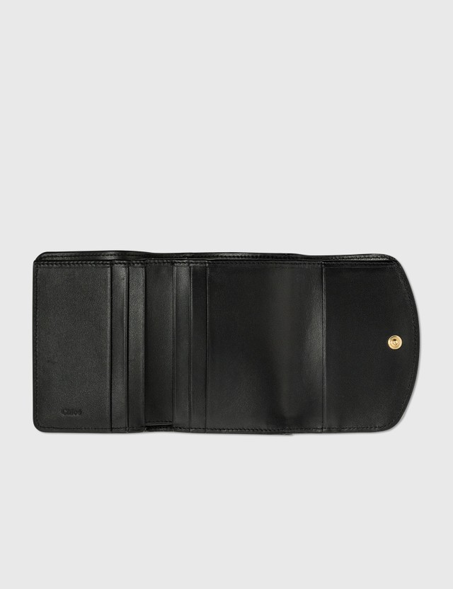 Chloé Chloé C Small Tri-fold Wallet Black Women