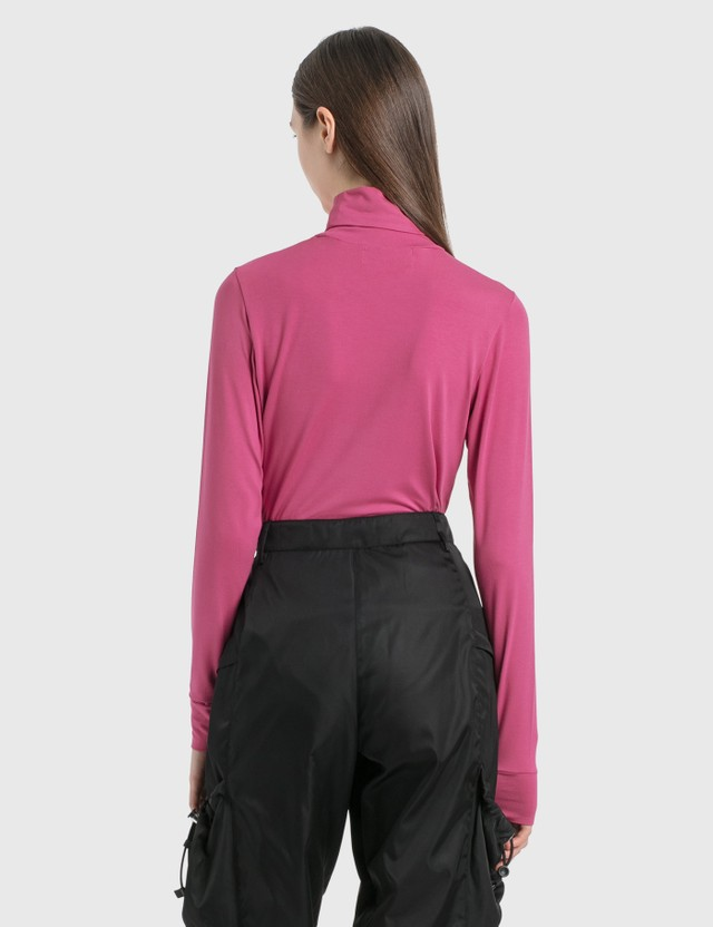 "Ambush ""A"" Turtle Neck Long Sleeve T-Shirt Pink Women"