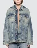 Maison Margiela Blue Denim Jacket With Fold Detail Picutre