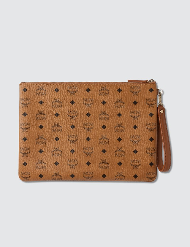 MCM Large Pouch in Visetos Original