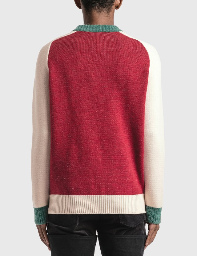 Casablanca Intarsia Bordeaux Knitted Sweater =e26 Men