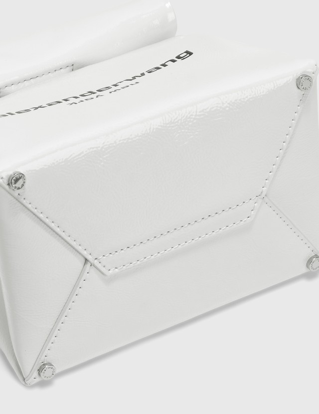 Alexander Wang Lunch Bag Clutch - White Patent Leather White Women