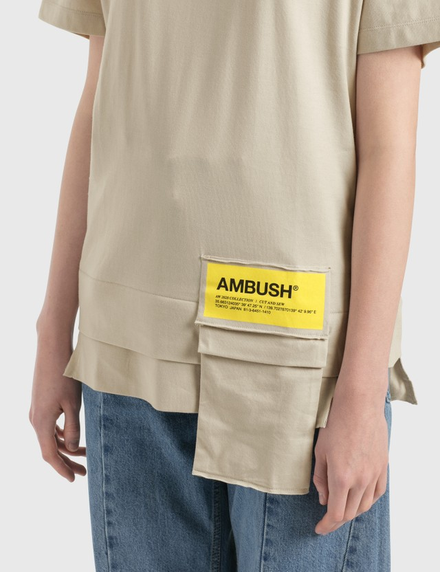 Ambush New Waist Pocket T-Shirt Beige Women