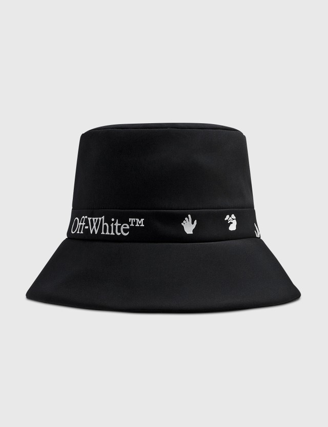 Off-White Logo Bucket Cap Black White Women
