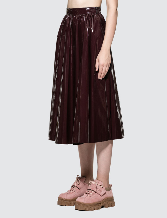 MSGM Stretch Patent Leather Skirt