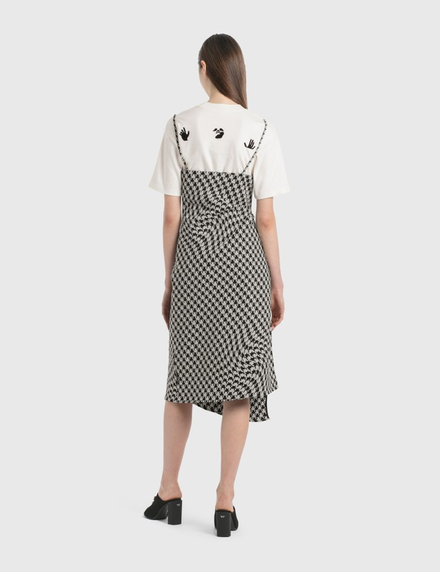 Off-White Houndstooth Slip Dress