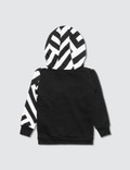 NUNUNU Part Striped Hoodie
