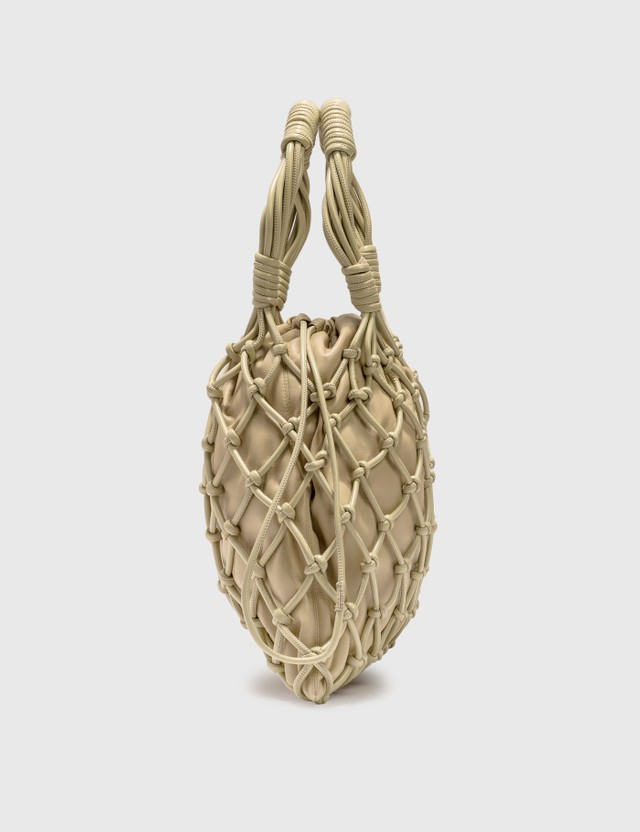 Nanushka Naiya Vegan Leather Macramé  Bag Butter Women