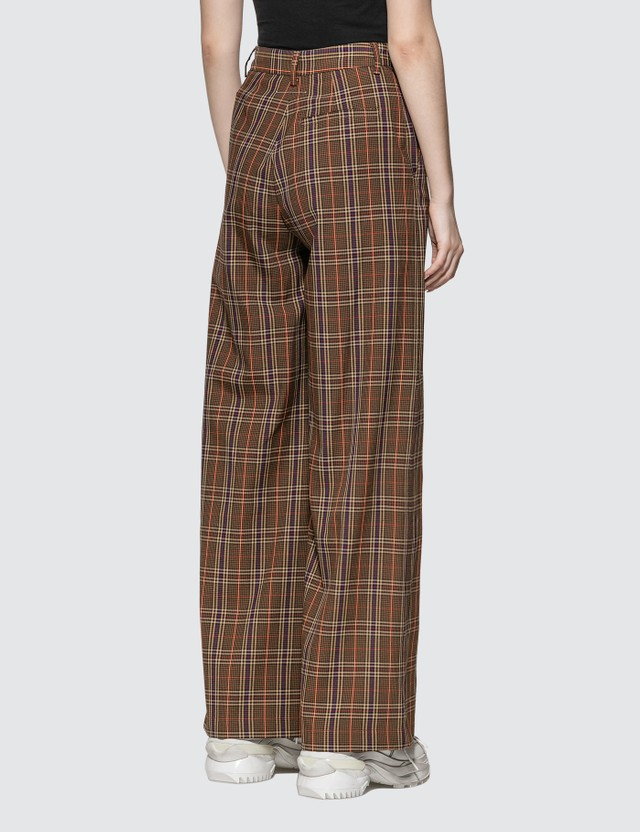 MM6 Maison Margiela Check Wool Pants Brown Women
