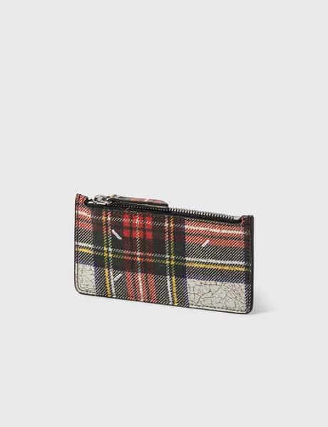 메종 마르지엘라 Maison Margiela Coated Leather Zip Card Holder