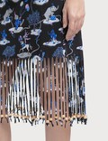 Loewe Paula Circus Fringe Dress Black/white/pink/aÑil Blue Women