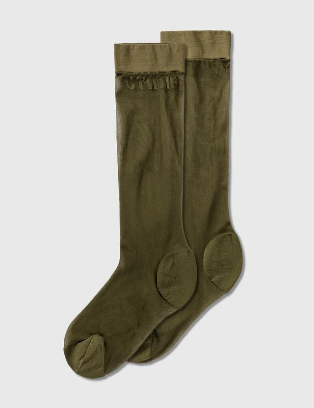 Heron Preston CTNMB Long Sheer Socks =e43 Women