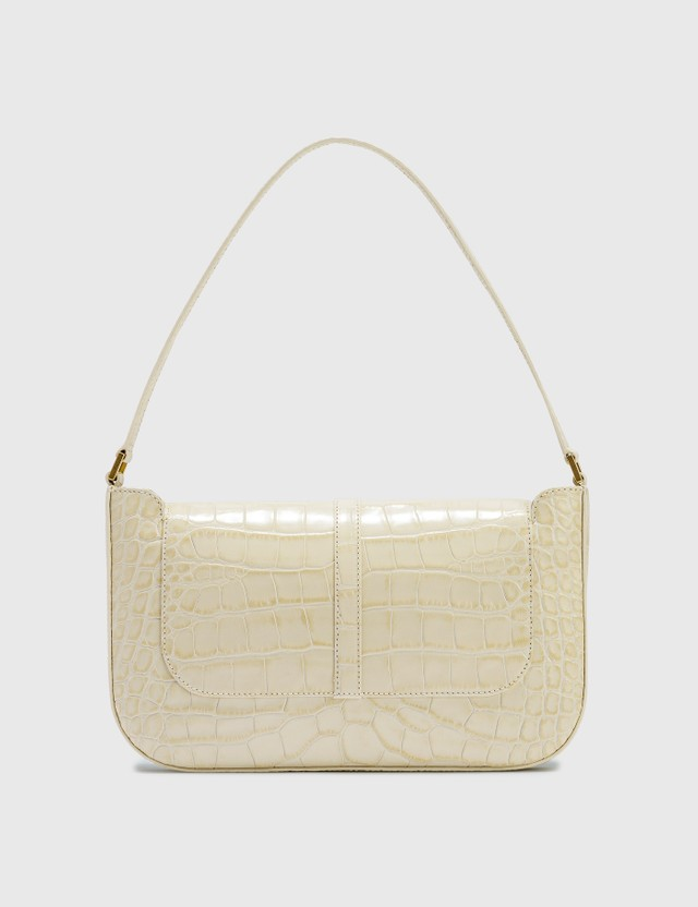 BY FAR Miranda Cream Croco Embossed Leather Bag Cream Women