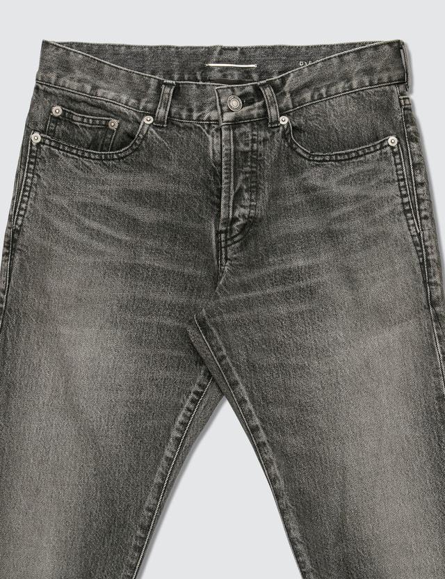 Saint Laurent Distressed Skinny Jeans Black Men