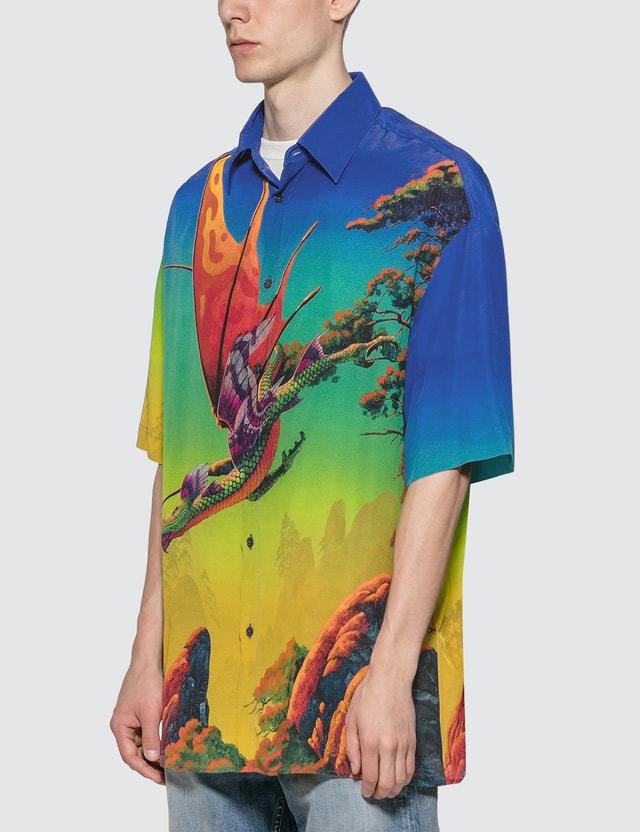 Valentino Dragon At Dawn Silk Shirt