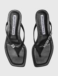 Alexander Wang Ivy Flat Thong Sandal Black Women