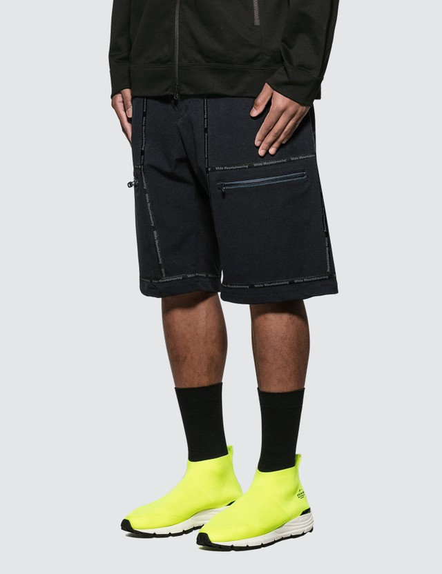 White Mountaineering White Mountaineering Logo Taped Shorts