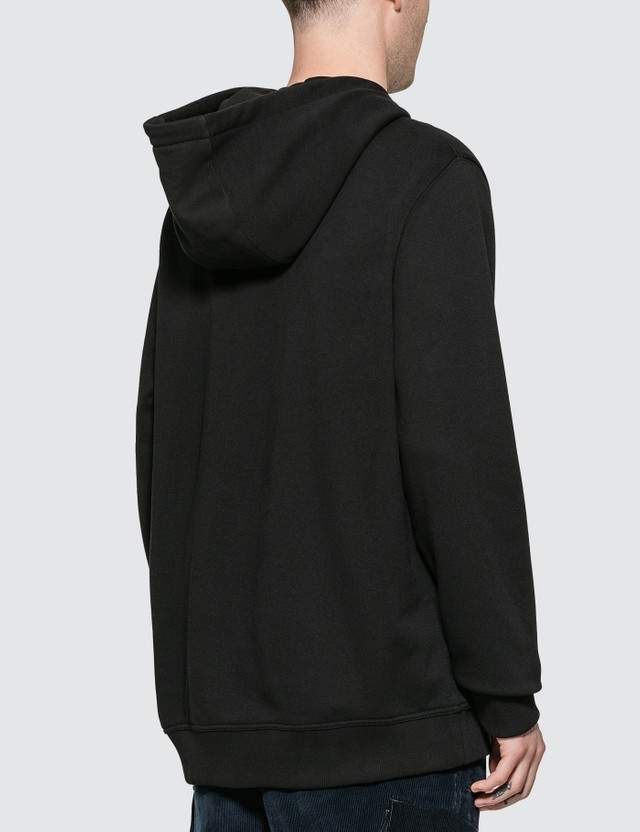 Burberry Logo Print Cotton Hoodie Black Men