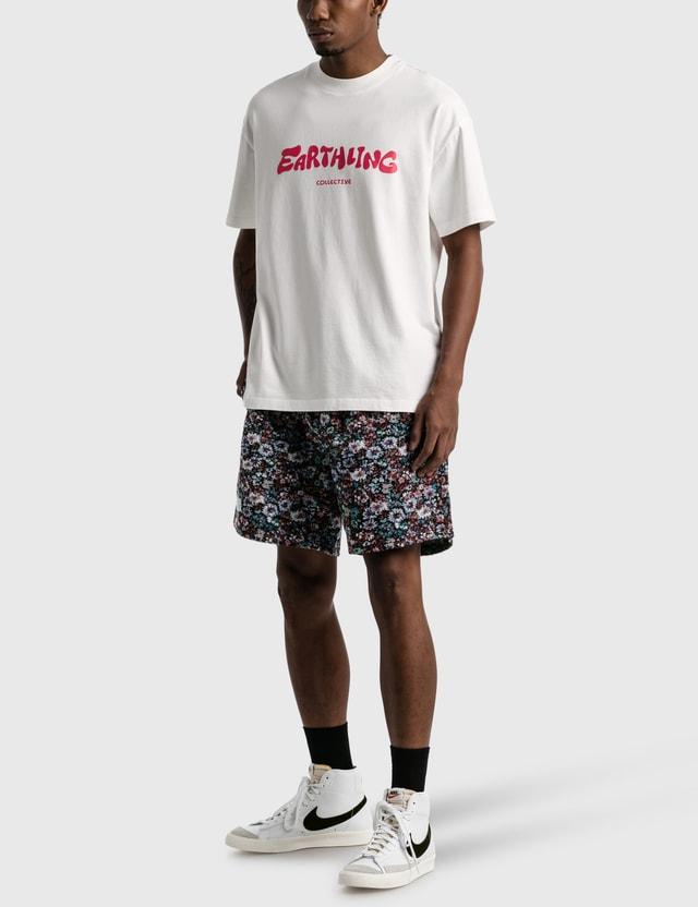 Earthling Collective Logo Oversize T-shirt White/red Men
