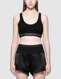Alexander Wang.T Compact Rib Crop Tank With T Logo Elastic Picture