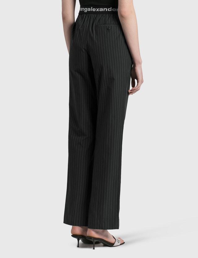 Alexander Wang.T Logo Elastic Pull-on Pants Black/white Women
