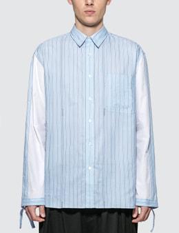JW Anderson Drawstring Colorblock Logo Stripe Shirt