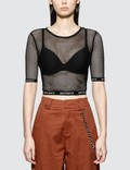 Wasted Paris Fishnet Crop Top Picutre