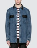 Alexander Wang Oversized Denim Button Down Shirt Picutre
