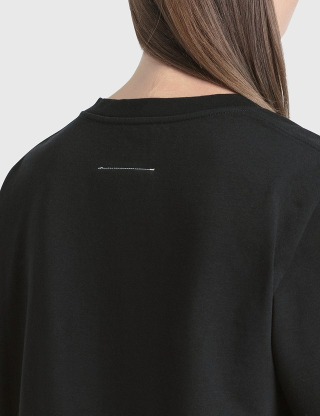 MM6 Maison Margiela Numbers Logo Print T-Shirt Black Women