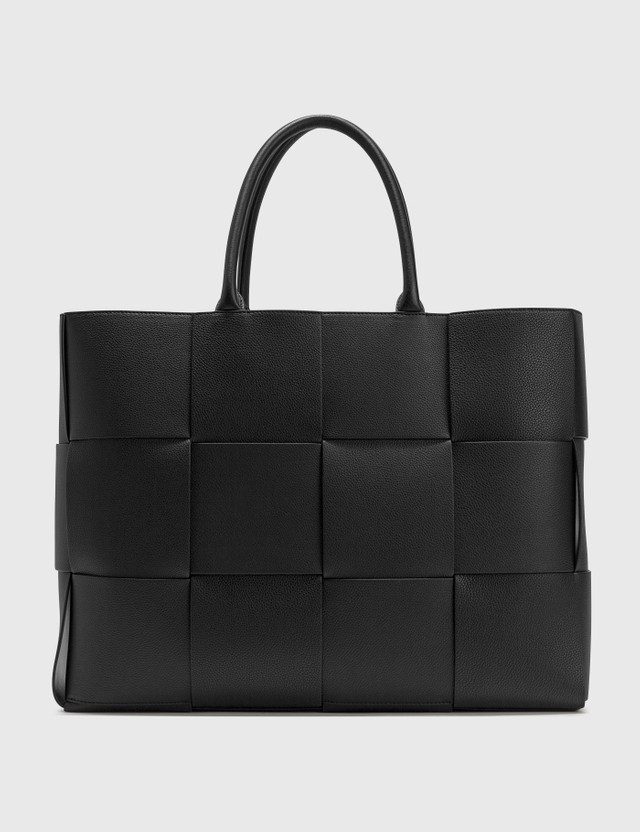 Bottega Veneta Intrecciato Urban Leather Tote Bag Black Men