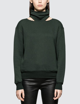 Unravel Project Cot Cashmere Mock Neck Cut