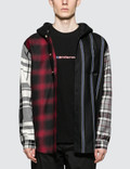 Alexander Wang Wool Tartan Hooded Shirt Picutre