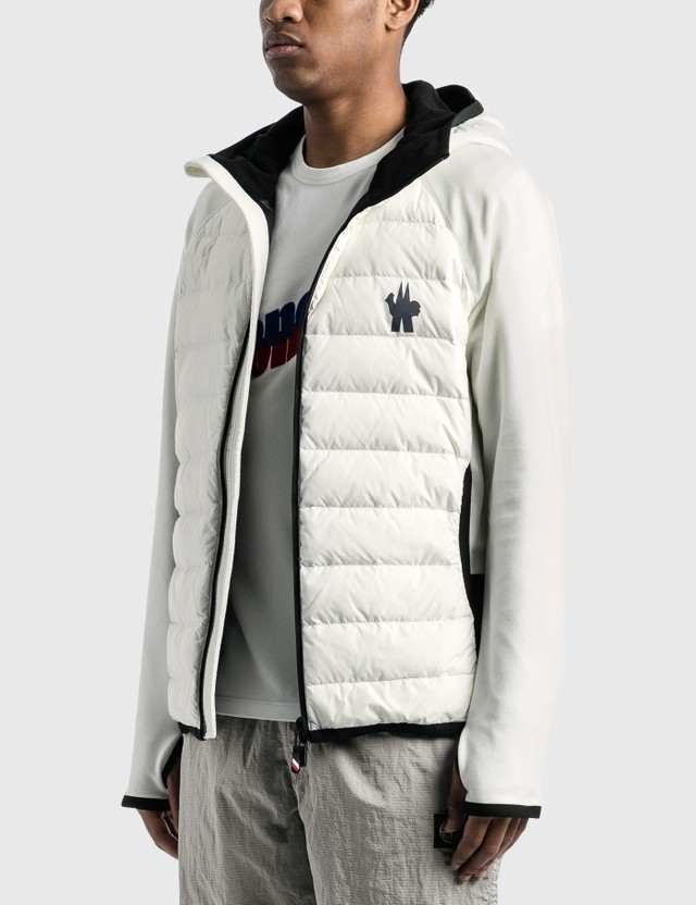 Moncler Grenoble Down Fleece Jacket White Men