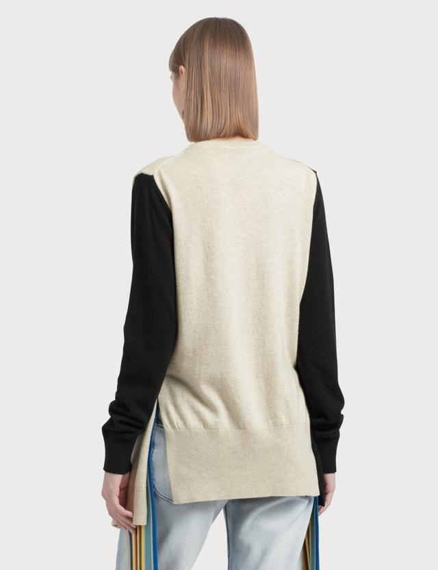Loewe Shoulder Sleeve Sweater Black/beige Women