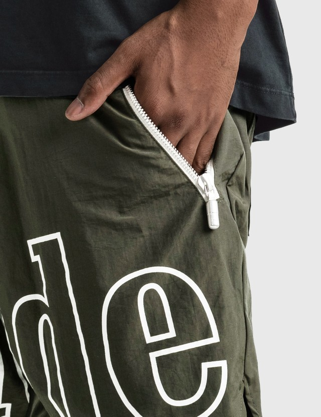 Rhude Logo Shorts Olive Men