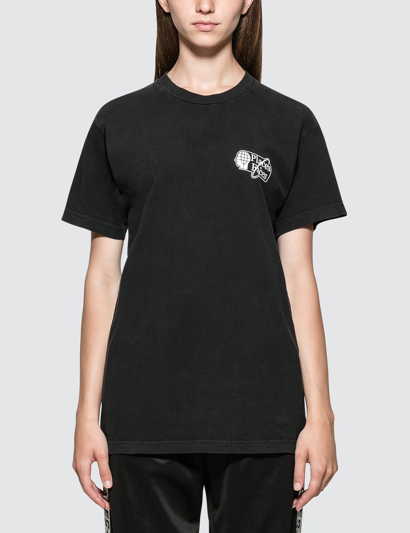 PLACES + FACES   Places + Faces Space Logo Short Sleeve T-shirt   Goxip