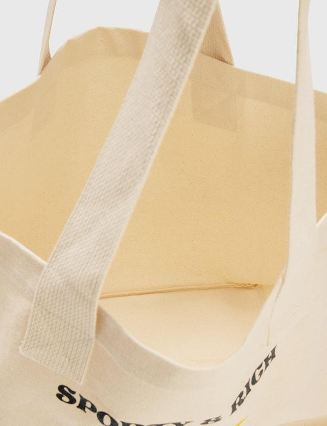 Sporty & Rich S&R Sun Club Tote Bag Natural/black Print Men