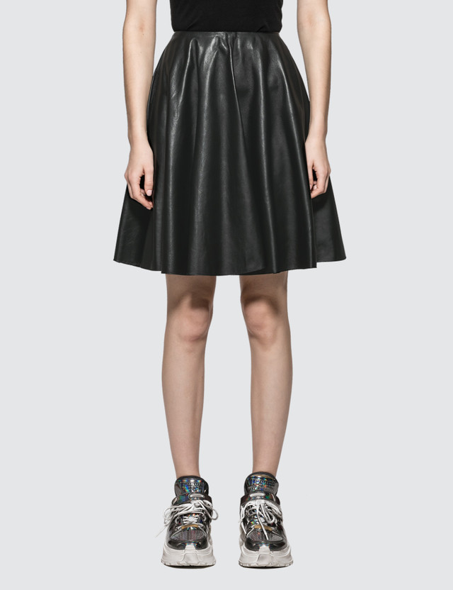 MM6 Maison Margiela Leather Skirt Black Women
